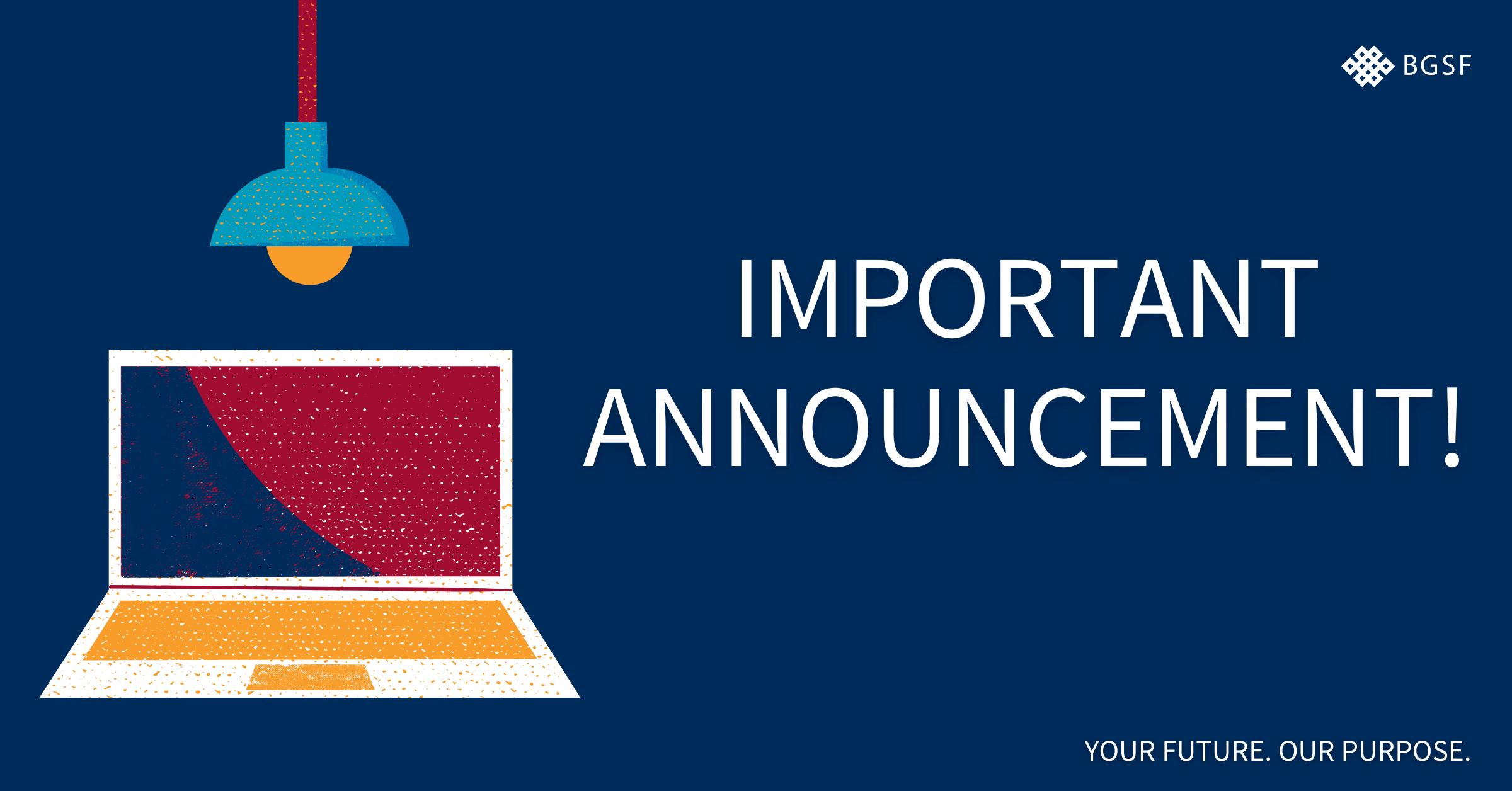 BGSF Community Announcement