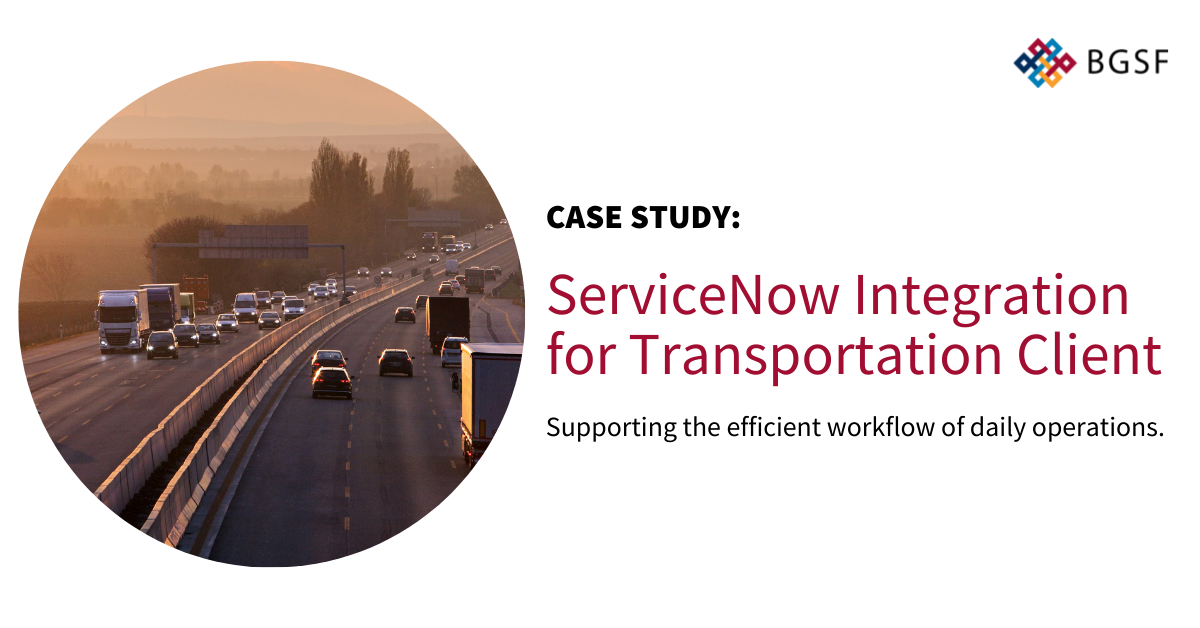 ServiceNow Integration for Transportation Client (Managed Services)